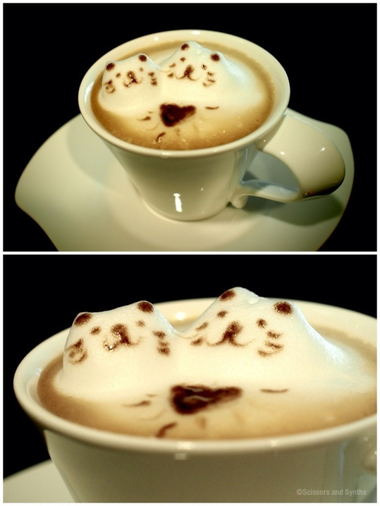 3D Coffee Art in Scissors and Synths