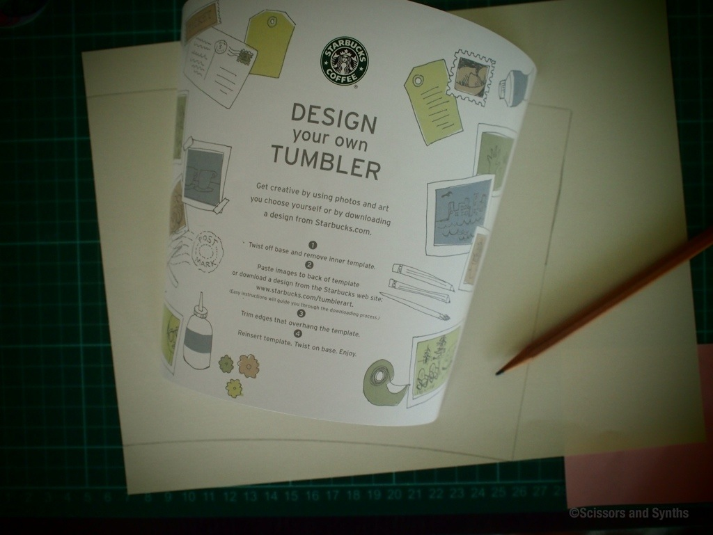 Washi fied starbucks tumbler scissors synths for Starbucks create your own tumbler blank template
