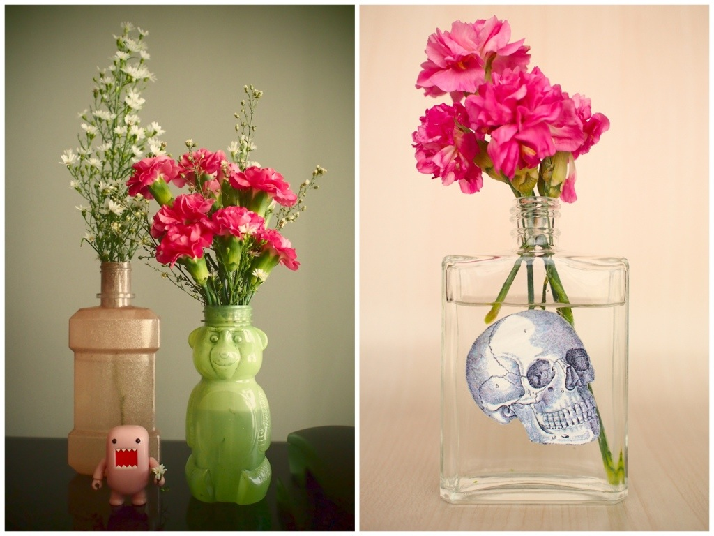 Diy Polish Painted Amp Decoupage Flower Vases Scissors Amp Synths