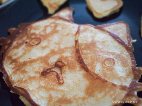 Kitty pancake close up